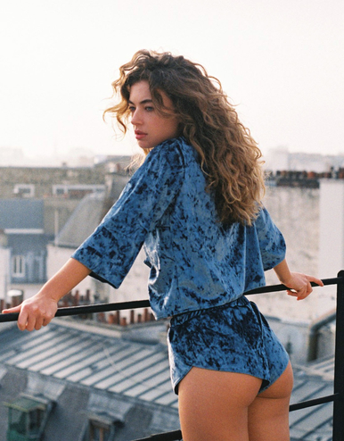 lingerie chemise Blue Velvet Bleu Owl 39 € Girls In Paris photo 2