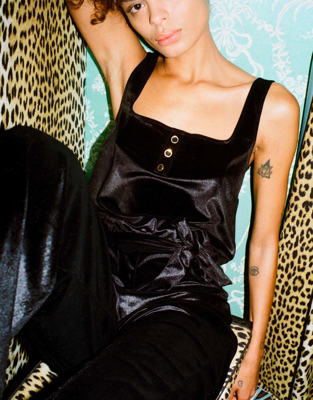 lingerie jumpsuit Charlie velvet Black Storm 59 € Girls In Paris photo 2