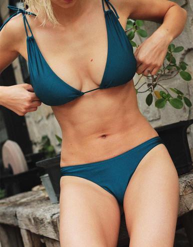 maillot de bain culotte Amalfi Bleu crique 20 € Girls In Paris