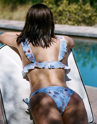 maillot de bain culotte Lottie Bleu Bouquet 20 € Girls In Paris