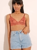 Set triangles Charlie nude/terracotta