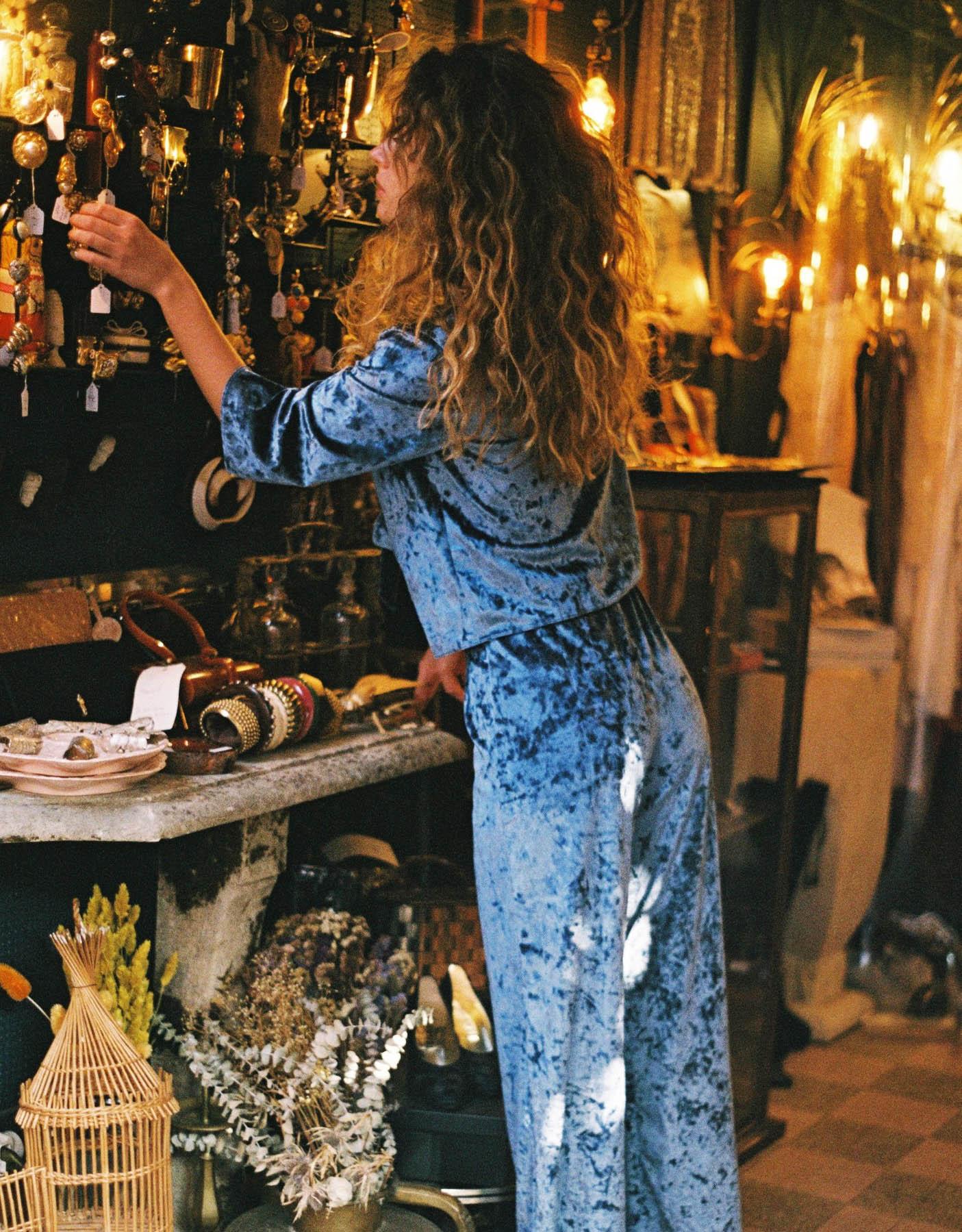 lingerie pantalon Blue Velvet Bleu Owl 34 € Girls In Paris photo 2
