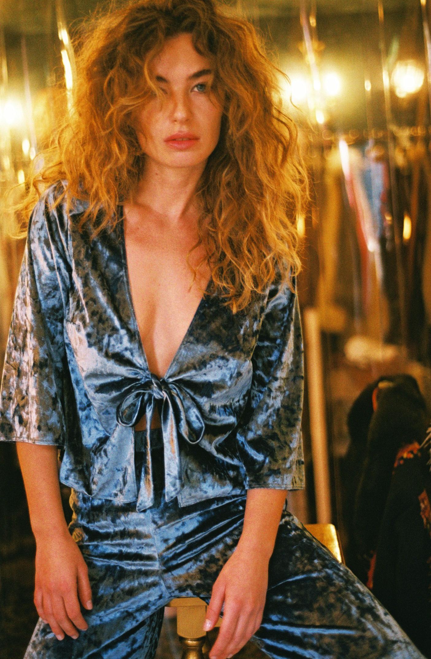 lingerie pantalon Blue Velvet Bleu Owl 34 € Girls In Paris photo 3
