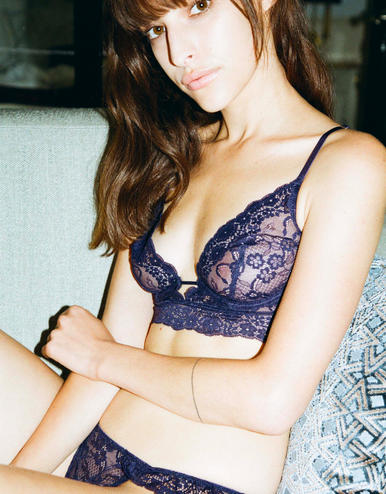 lingerie bra with underwires Birdie Midnight Blue 39 € Girls In Paris