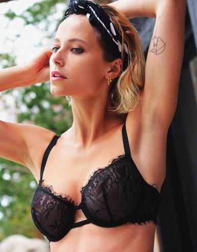 lingerie bra with underwires Charlie Black Storm 39 € Girls In Paris