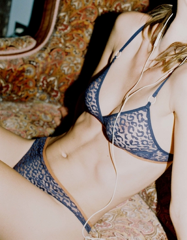 lingerie soutien-gorge sans armatures Milano Bleu Dark 32 € Girls In Paris