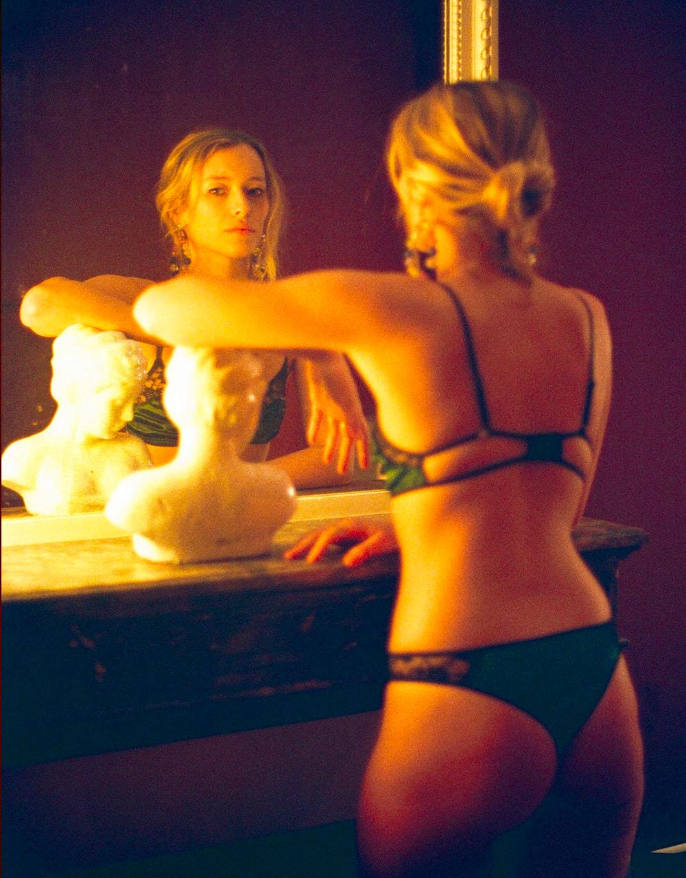 lingerie bra without underwires Very Velvet Green Queen 34 € Girls In Paris photo 4