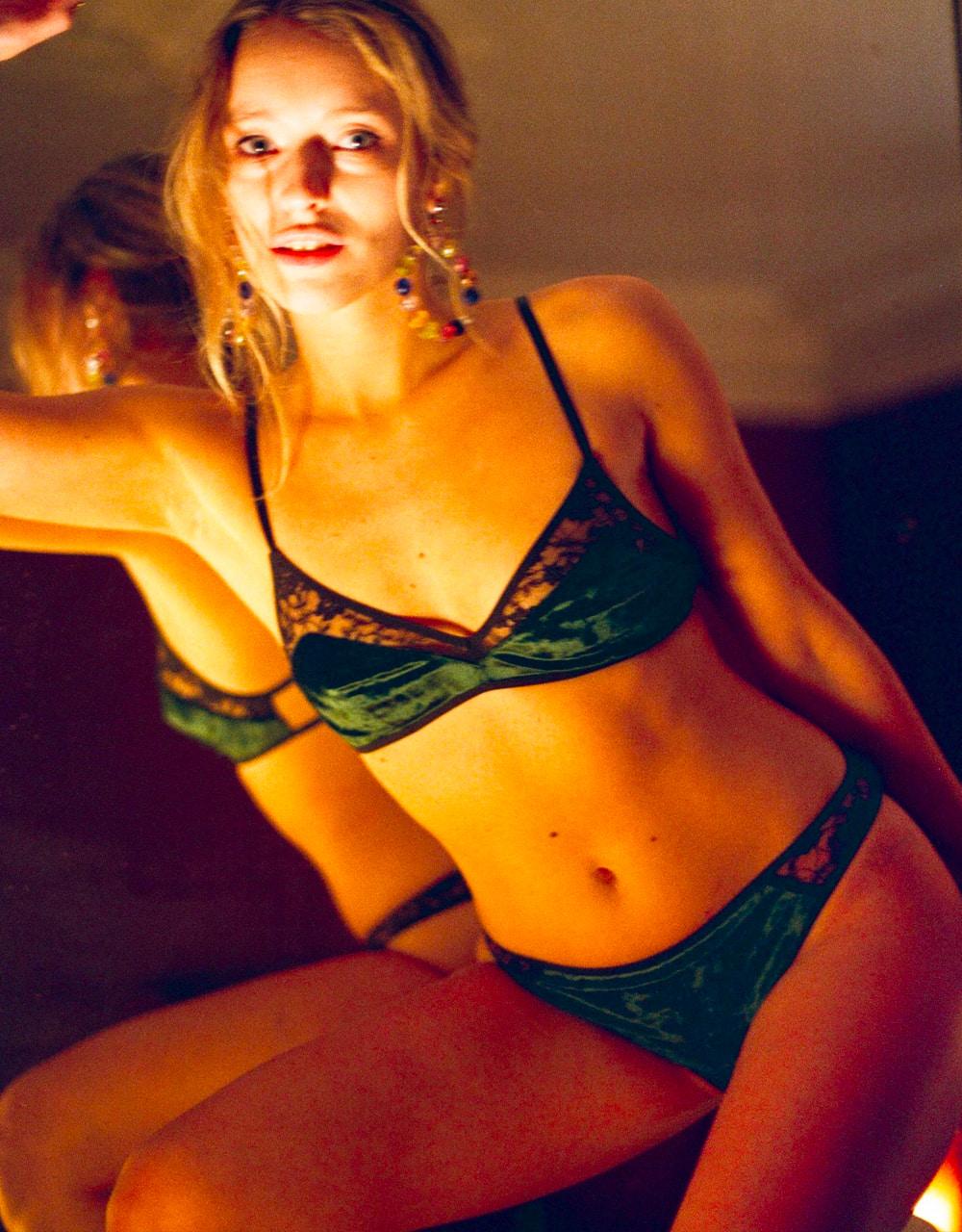 lingerie tanga Very Velvet Green Queen 20 € Girls In Paris photo 4