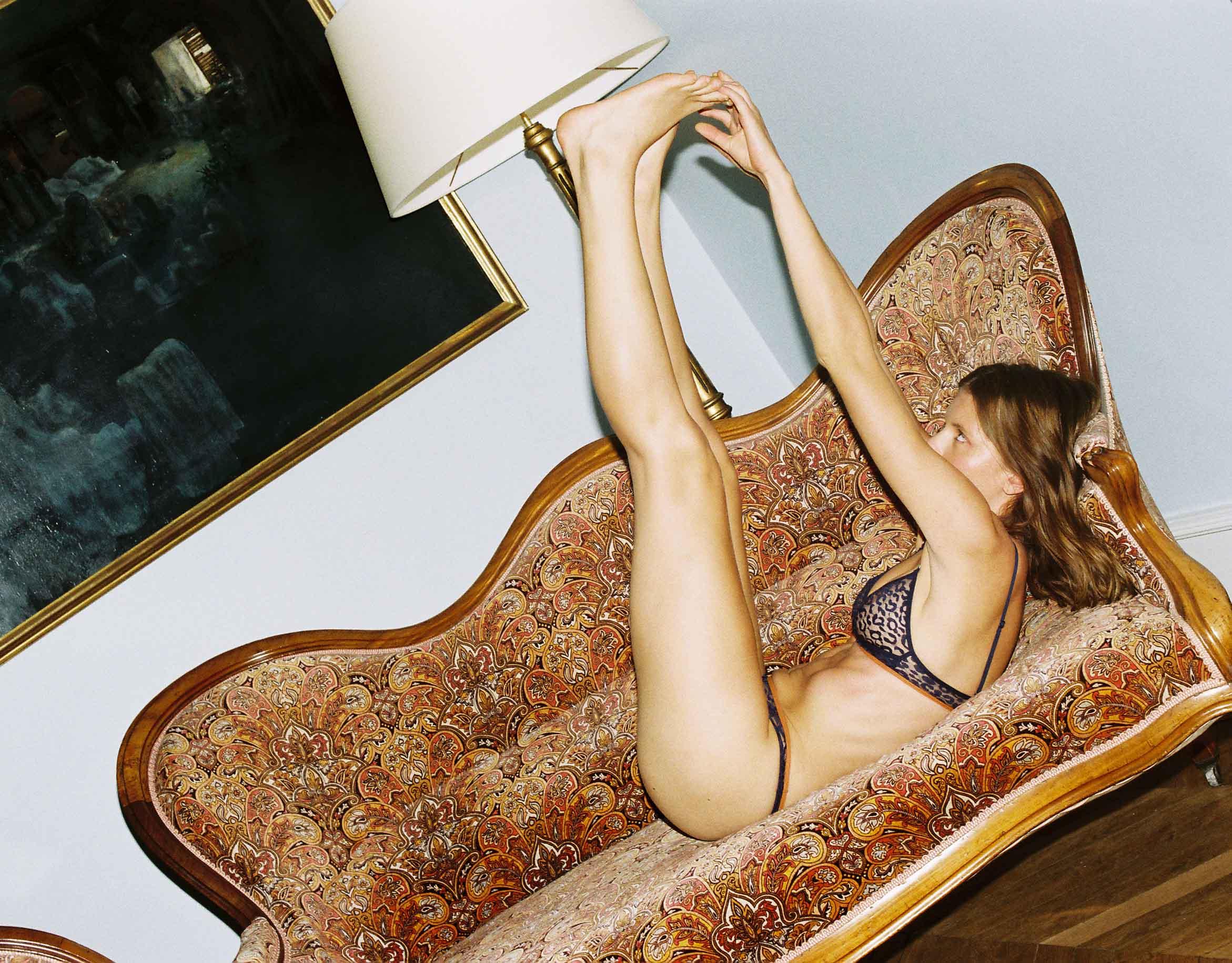 lingerie soutien-gorge sans armatures Milano Bleu Dark 32 € Girls In Paris
